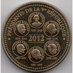FRANCE - MEDAL - ELYSEE - THE PRESIDENTS OF THE REPUBLIC VEME - 2012