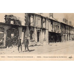 County 60100 - OISE - CREIL - HOUSES BOMBED BY THE GERMANS