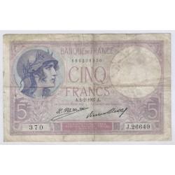 FAY 03/11 - 5 FRANCS VIOLET - 1927 - TRES TRES BEAU - PICK 72