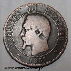 FRANCE - KM 771 - 10 CENTIMES 1853 W - Lille - TYPE NAPOLÉON III