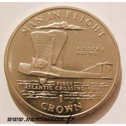 ISLE OF MAN - KM 420 - 1 CROWN 1994 - ALCOCK & BRAUN