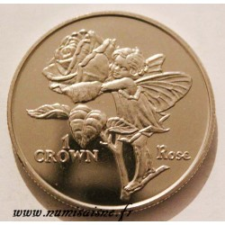 ISLE OF MAN - KM 610 - 1 CROWN 1996 - FLOWERS FAIRY - ROSE