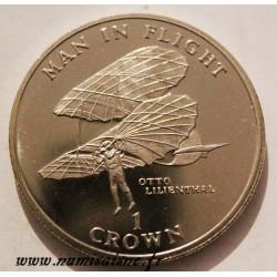 ISLE OF MAN - KM 417 - 1 CROWN 1994 - OTTO LILIENTHAL
