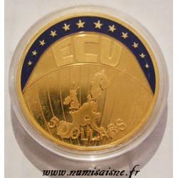 LIBERIA - 5 DOLLARS 2001 - ECU