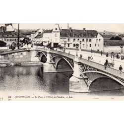 County 60200 - OISE - COMPIEGNE - THE BRIDGE AND THE HOTEL OF FLANDERS