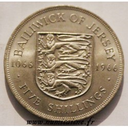 JERSEY - KM 28 - 5 SHILLING 1966 - 900 years of the Battle of Hastings