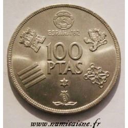SPAIN - KM 820 - 100 PESETAS 1980 - FOOTBALL WORLD CUP 1982