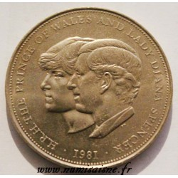 GREAT BRITAIN - KM 920 - 25 NEW PENCE 1981 - MARRIAGE OF CHARLES AND DIANA