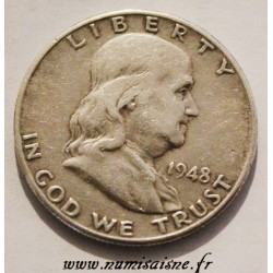 UNITED STATES - KM 199 - 1/2 DOLLAR 1948 D - Denver - BENJAMIN FRANKLIN