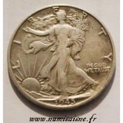 UNITED STATES - KM 142 - 1/2 DOLLAR 1945 D - Denver - LIBERTY WALKING