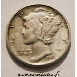 UNITED STATES - KM 140 - 10 CENTS 1943 S - San Francisco - MERCURY DIME