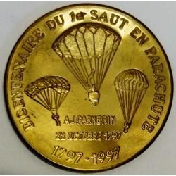 FRANCE - 67 - BAS-RHIN - STRASBOURG - EURO DES VILLES - 1.50 EURO 1997 - 200 YEARS OF THE FIRST PARACHUTE JUMP