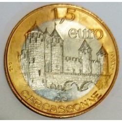 FRANCE - 11 - AUDE - CARCASSONNE - EURO DES VILLES - 1.50 EURO 1997