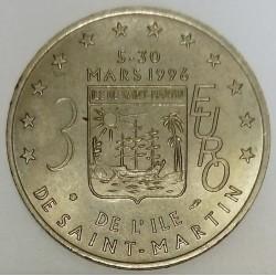 FRANCE - 97 - GUADELOUPE - SAINT-MARTIN - EURO OF CITY - 3 EURO 1996 - PELICAN