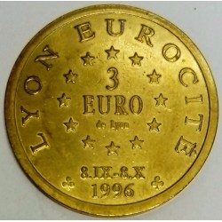 FRANCE - 69 - RHÔNE - LYON - EURO OF CITY - 3 EURO 1996 - 100 YEARS OF FOURVIERE