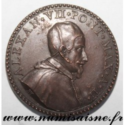 MEDAL - VATICAN - 1656 - POPE ALEXANDER VII 1655 - 1667 - VISIT OF QUEEN CHRISTINE OF SWEDEN
