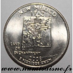 UNITED STATES - KM 422 - 1/4 DOLLAR 2008 D - Denver - New Mexico