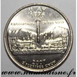 UNITED STATES - KM 400 - 1/4 DOLLAR 2007 D - Denver - UTAH