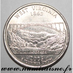 UNITED STATES - KM 374 - 1/4 DOLLAR 2001 P - Philadelphia - WEST VIRGINIA