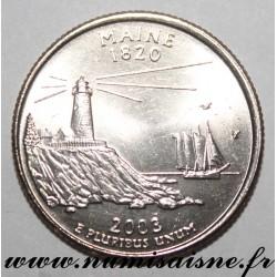 UNITED STATES - KM 345 - 1/4 DOLLAR 2003 P - Philadelphia - MAINE