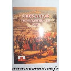 GIBRALTAR - PROTOTYPE EURO COIN SET - TRIAL / PATTERN - 8 COINS - 2004