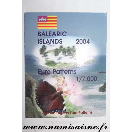 BALEARIC ISLANDS - PROTOTYPE EURO COIN SET - TRIAL / PATTERN - 8 COINS - 2004
