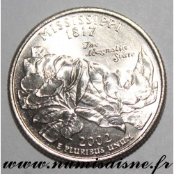 UNITED STATES - KM 335 - 1/4 DOLLAR 2002 D - Denver - MISSISSIPPI