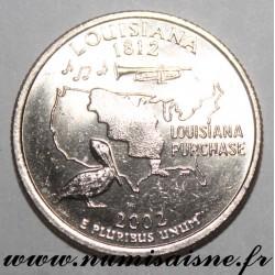 UNITED STATES - KM 333 - 1/4 DOLLAR 2002 D - Denver - LOUISIANA
