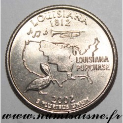 UNITED STATES - KM 333 - 1/4 DOLLAR 2002 P - Philadelphia - LOUISIANA