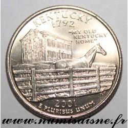 UNITED STATES - KM 322 - 1/4 DOLLAR 2001 P - Philadelphia - KENTUCKY