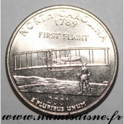 UNITED STATES - KM 319 - 1/4 DOLLAR 2001 P - Philadephia - NORTH CAROLINA