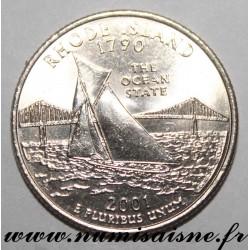 UNITED STATES - KM 320 - 1/4 DOLLAR 2001 D - Denver - RHODE ISLAND