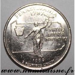 UNITED STATES - KM 294 - 1/4 DOLLAR 1999 D - Denver - PENNSYLVANIA