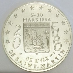 FRANCE - 97 - GUADELOUPE - SAINT-MARTIN - EURO OF CITY - 20 EURO 1996 - PELICAN