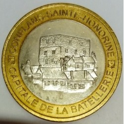 FRANCE - 78 - YVELINES - CONFLANS-SAINT-HONORINE - ECU CITIES - 10 ECUS 1995 - PENICHES GATHERING - MONTJOIE TOWER