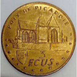 FRANCE - 80 - SOMME - POIX DE PICARDIE - 3 ECUS 1995 - FEAST OF GASTRONOMY - Church