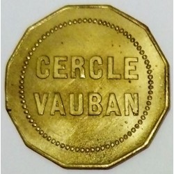 FRANCE - 21 - CÔTE D'OR - DIJON - 10 (CENTIMES) - CASINO TOKEN - CERCLE VAUBAN