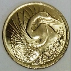 SINGAPORE - KM 2 - 5 CENTS 1974 - BIRD