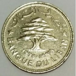 LEBANON - KM 28.1 - 50 PIASTRES 1978