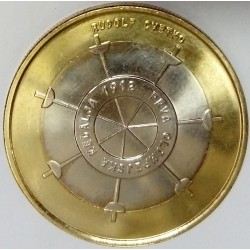 SLOVENIA - KM 109 - 3 EURO 2012 - RUDOLF CVETKO - 100 years of the first Slovenian gold medal at the Olympic Games