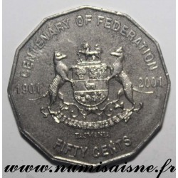 AUSTRALIA - KM 565 - 50 CENTS 2001 - CENTENARY OF THE FEDERATION - Tasmania