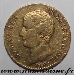 FRANCE - KM 651 - 20 FRANCS YEAR XI A - Paris - BONAPARTE 1st CONSUL