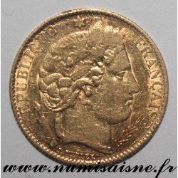 FRANCE - KM 830 - 10 FRANCS 1851 A - Paris - TYPE CÉRÈS - GOLD