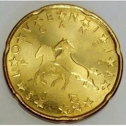 SLOVENIA - KM 72 - 20 EURO CENT 2007 - LIPIZZAN HORSES