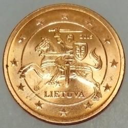 LITHUANIA - KM 206 - 2 CENT 2015 - KNIGHT VYTIS