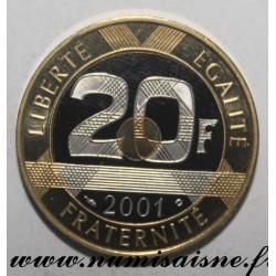 FRANCE - KM 1008 - 20 FRANCS 2001 - TYPE MONT SAINT MICHEL