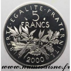 FRANCE - KM 926a - 5 FRANCS 2000 - TYPE SOWER