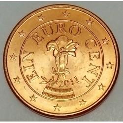 AUSTRIA - KM 3082 - 1 EURO CENT 2011 - GENTIANE