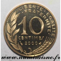 FRANCE - KM 929 - 10 CENTIMES 2000 - TYPE MARIANNE