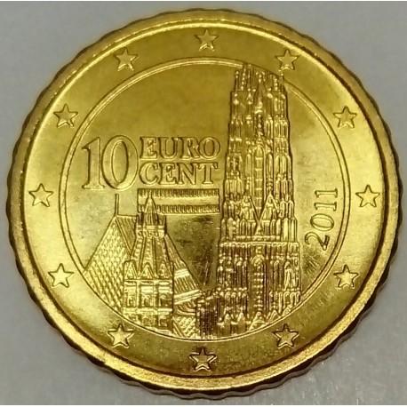 AUSTRIA - KM 3139 - 10 EURO CENT 2011 - SAINT ETIENNE CATHEDRAL